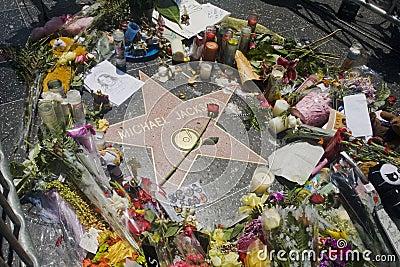 Estrella de Michael Jackson Imagen de archivo editorial