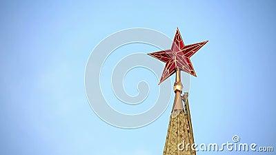 Estrella roja sobre el Kremlin almacen de metraje de vídeo