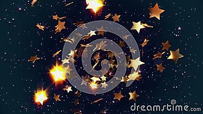 Estrellas de oro que vuelan