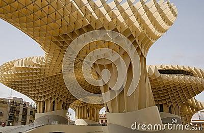 Estructura de madera Fotografía editorial