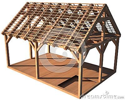 Estructura de madera de la casa imagen de archivo imagen - Estructura casa de madera ...
