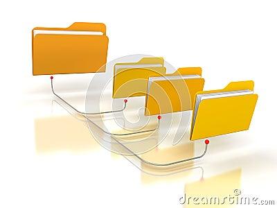 Estructura de red de las carpetas