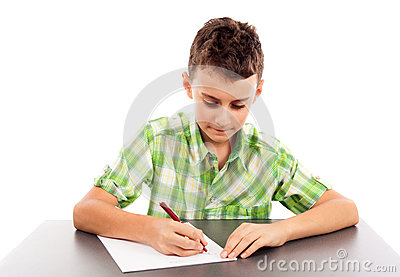 Estudante no exame