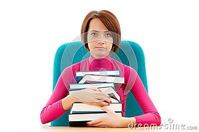 Estudiante femenino joven