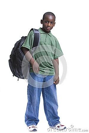 Estudiante masculino joven
