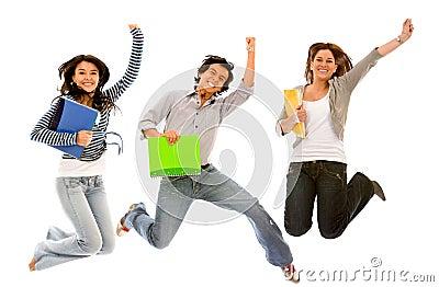 Estudiantes emocionados