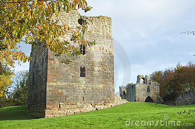 Etal castle tower and gatehouse