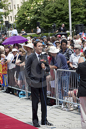 etalks Ben Mulroney reporting on Royal Visit Editorial Image