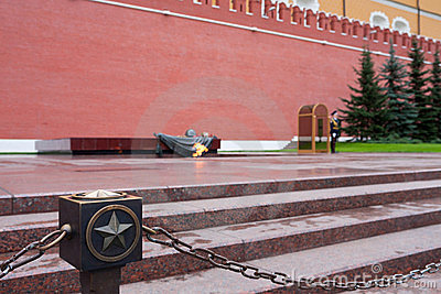 Eternal Flame at the Kremlin wall