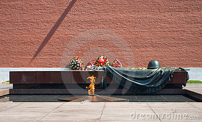 Eternal Flame at the Tomb of the Unknown Soldier Editorial Photography