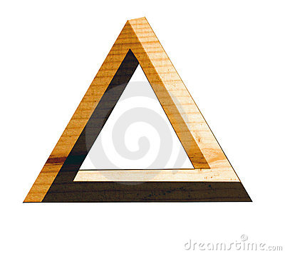 Eternal triangle in wood