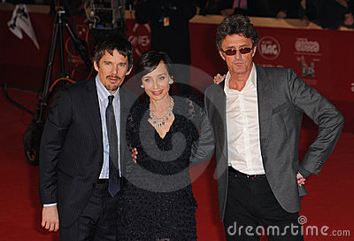 Ethan Hawke, Kristin Scott Thomas, Pawel Pawlikowski, Scott Thomas Editorial Photo