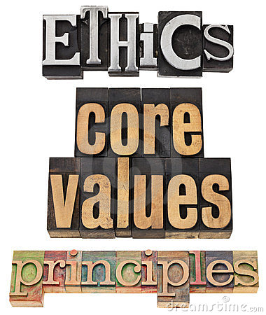 Ethics, core values, principles