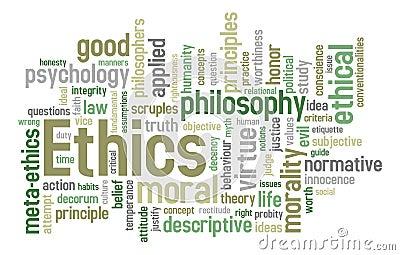 Ethik-Wort-Wolke