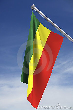 Ethiopia Flag with clipping path