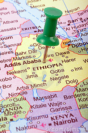 Ethiopia on map