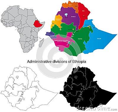 Ethiopia Map Stock Image - Image: 18893821