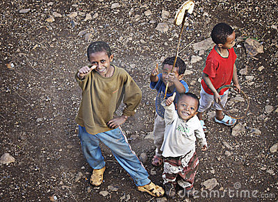 Ethiopia: Thumbs up Editorial Stock Photo