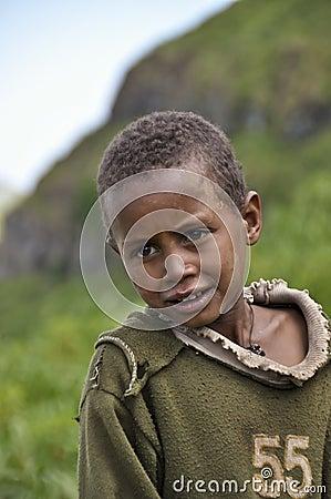 Ethiopian boy Editorial Photo