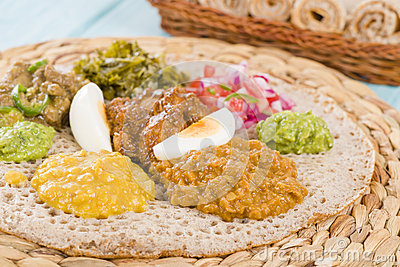 Ethiopian Feast - Injera