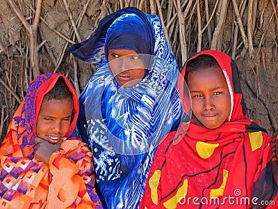 Ethiopian girls Editorial Photo