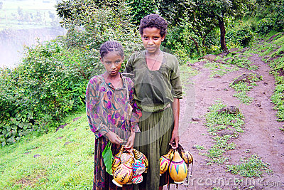 Ethiopian girls Editorial Stock Photo