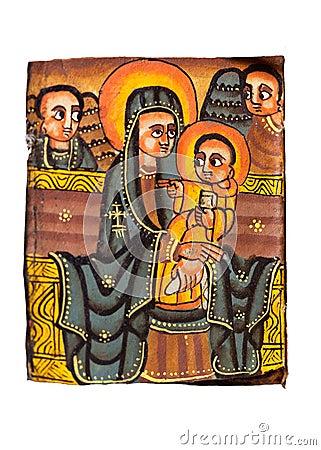 Free Ethiopian Holy Virgin Christ Royalty Free Stock Image - 31451506