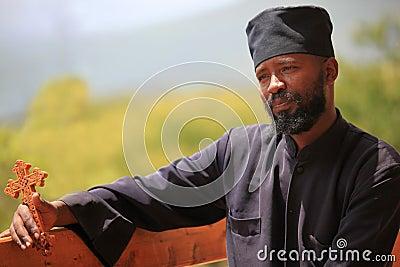 Ethiopian orthodox priest, in Ethiopia Editorial Photo