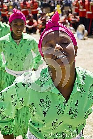 Ethiopian Women Performing a Dance Editorial Image