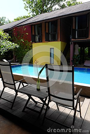 Ethnic asian house with swimming pool