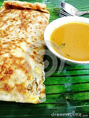 Free Ethnic Asian Indian Food Murtabak Stock Images - 6484264