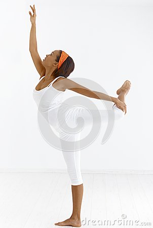 Ethnic ballet dancer
