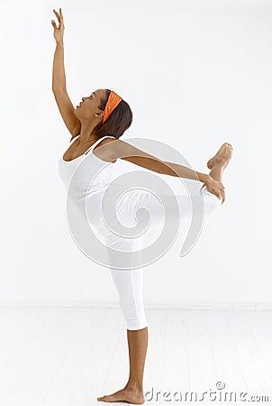 Ethnic ballet dancer