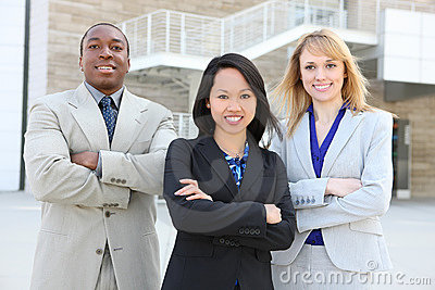 Ethnic Business Team  (Focus on middle woman)