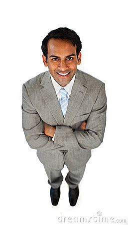Ethnic businessman with folded arms
