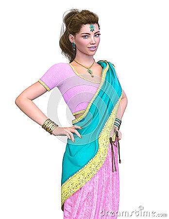 Free Ethnic Costumes Woman Stock Image - 104369871