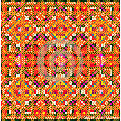 Ethnic cross stitch pattern.