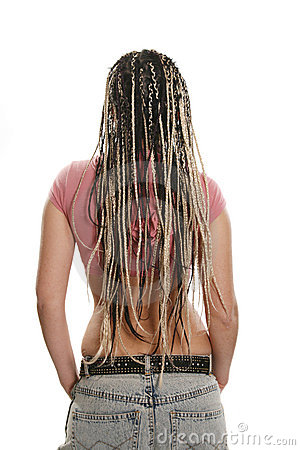 Ethnic dreadlocks hairdress