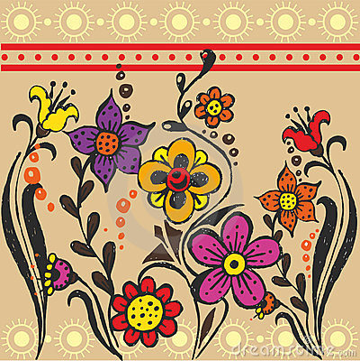 Ethnic flower