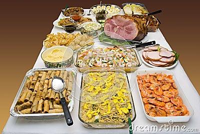 Ethnic food feast