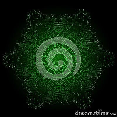 Free Ethnic Fractal Glowing Mandala Vector Meditation Looks Like Snow Royalty Free Stock Photos - 84472348