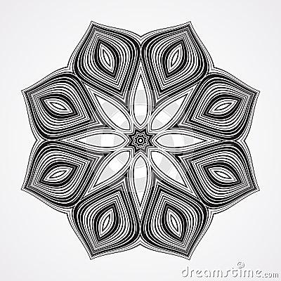 Free Ethnic Fractal Mandala Stock Image - 55151041