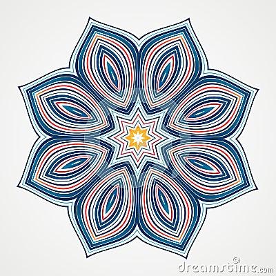Free Ethnic Fractal Mandala Stock Photo - 55151450