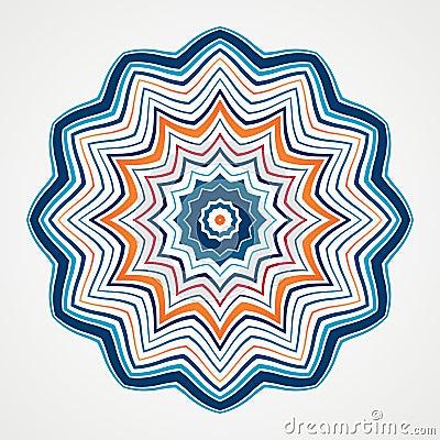 Free Ethnic Fractal Mandala Stock Image - 55151741