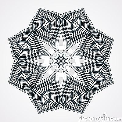 Free Ethnic Fractal Mandala Royalty Free Stock Photo - 55206925
