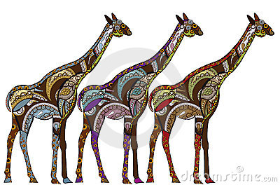 Ethnic giraffes