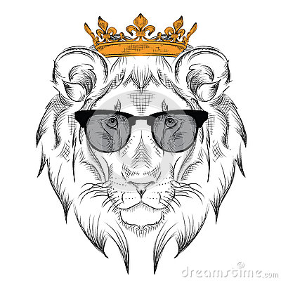 Ethnic Hand Drawing Head Of Lion Wearing Crown And In The Glasses Cartoon Vector Cartoondealer Com 74535985 Even though he is not completely evil, he is sensitive and temperamental. ethnic hand drawing head of lion