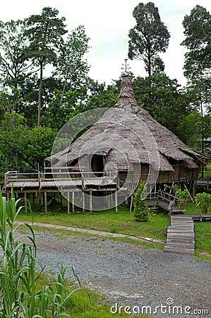 Ethnic rites house, Borneo Bidayuh tribe