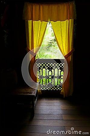Ethnic Malay antique house interior