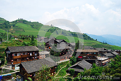 Ethnic minority village in Guangxi province,China